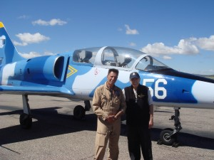 Peter R. Bain with L39 Jet Trainer