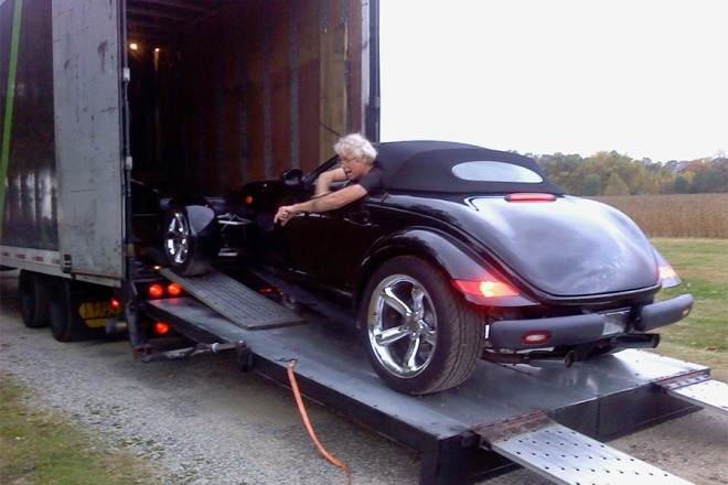 Peter R. Bain and his Prowler Car