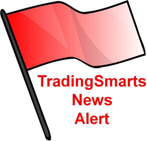 Picture of red flag with words TradingSmarts News Alert beside it.