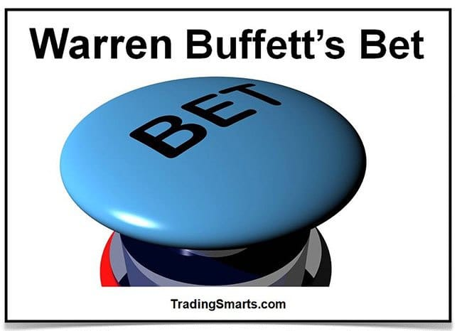 Picture of a 'BET' push button with the heading 'Warren Buffett's Bet' above it.